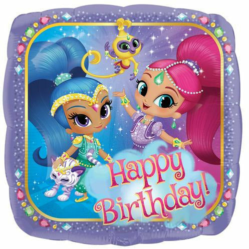 "153 Shimmer and Shine Happy Birthday 17"" Mylar Balloon"