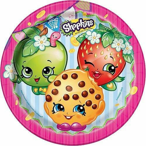 Shopkins Lunch Plates 8ct