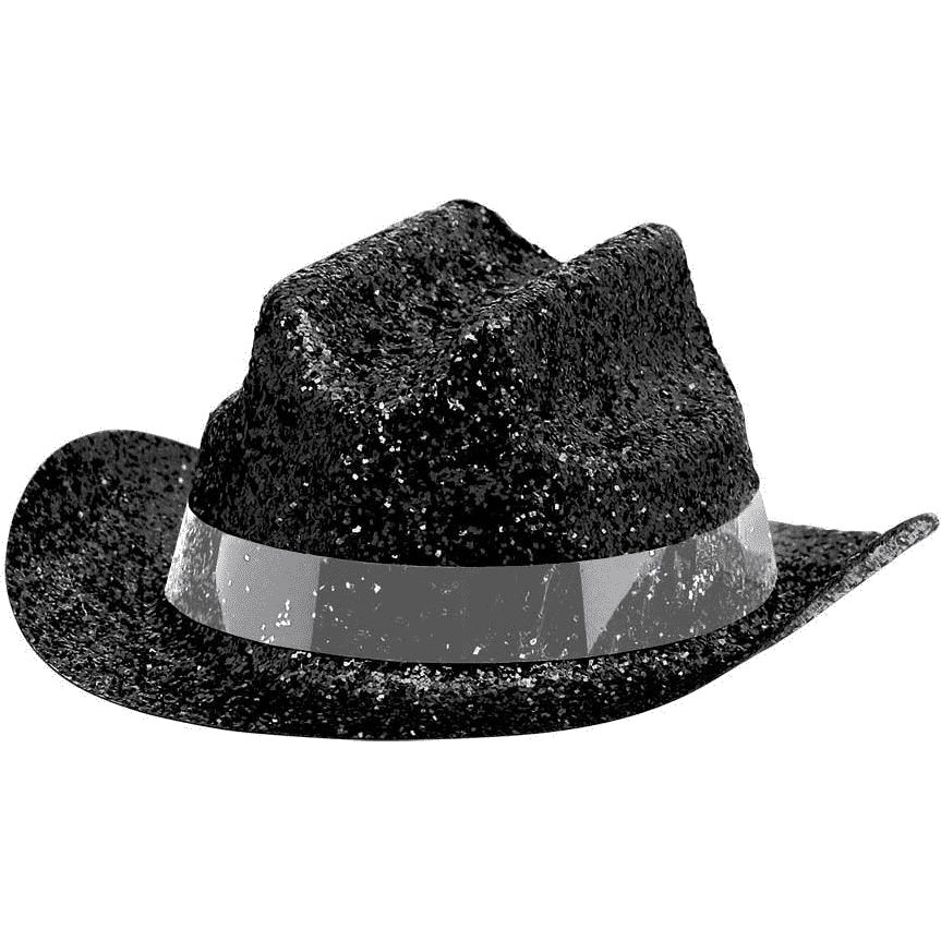 Black Mini Cowboy Hat Glitter