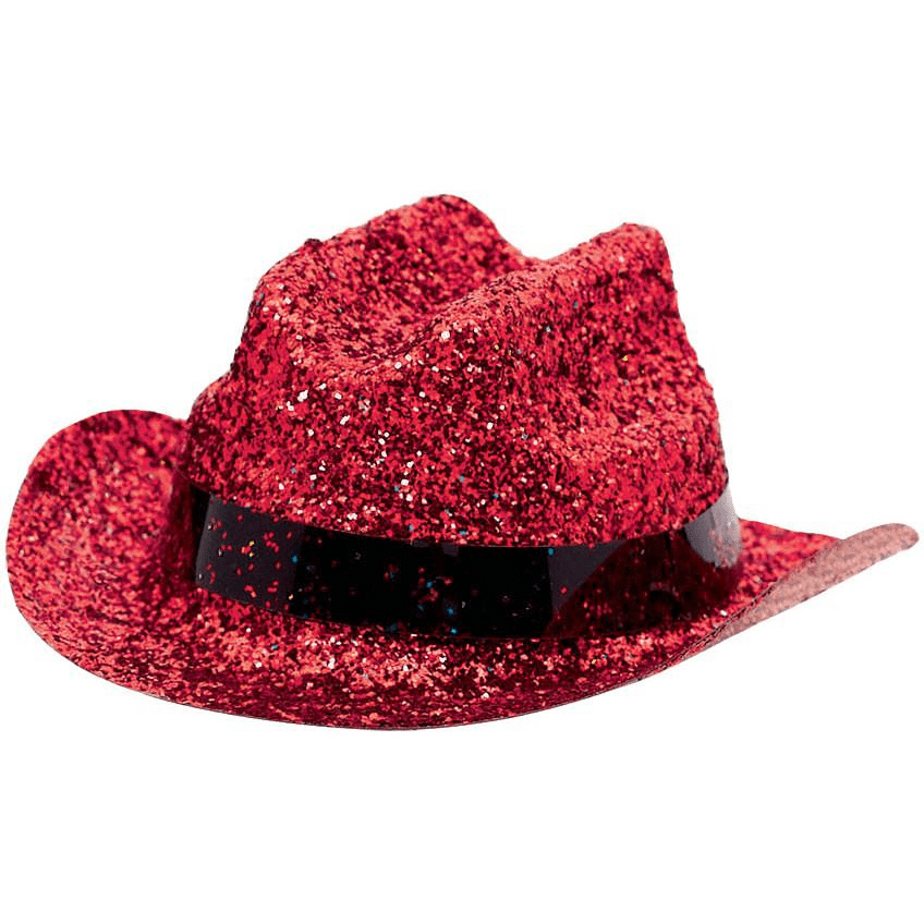Red Mini Cowboy Hat Glitter