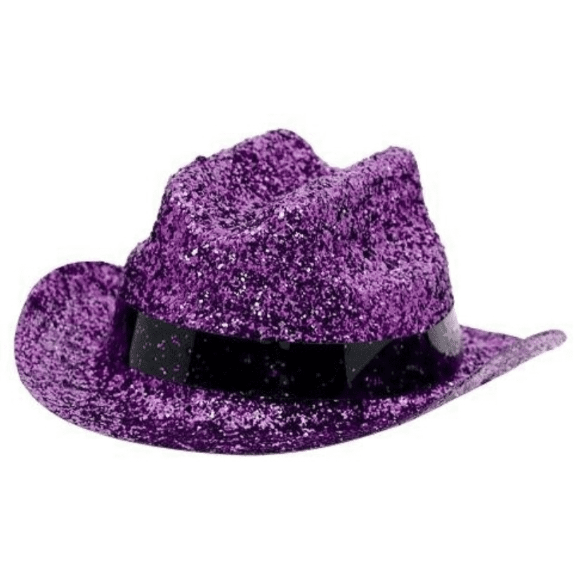 Purple Mini Glitter Cowboy Hat