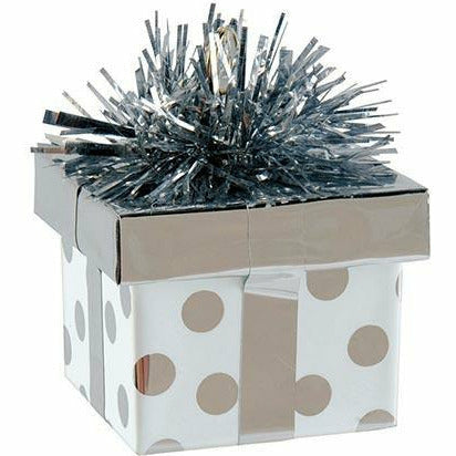 Silver Dots Gift Pack Balloon Weight