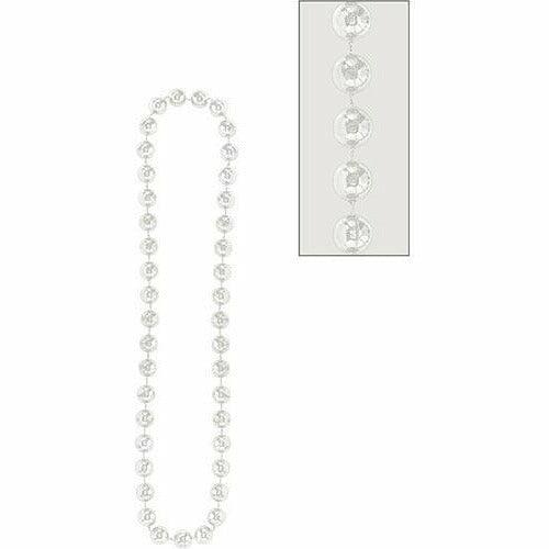 Silver Jumbo Bead Necklace