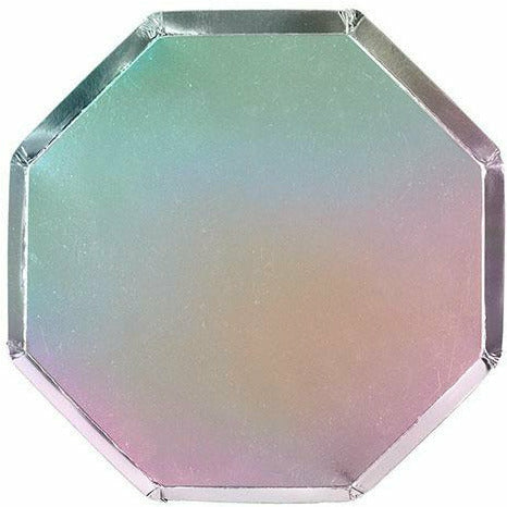 Silver Holographic Dinner Plates