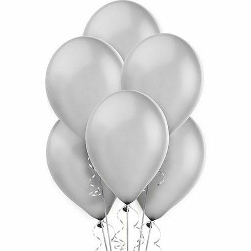 Silver Pearl Balloons 15ct
