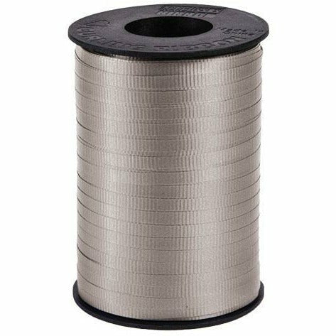 "Silver Curling Ribbon 3/16"" x 500 Yards"