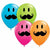 "Smile Mustache Mixed Assortment 11"" Latex Balloon"