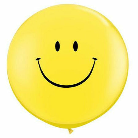 "Smiley Yellow 36"" Latex Balloon"