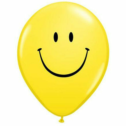"Smiley Yellow 11"" Latex Balloon"