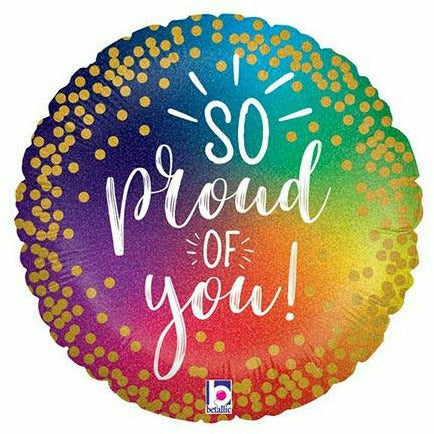 "C008 So Proud of You / Way to Go 18"" Mylar Balloon"
