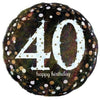 "308 18"" Sparkling 40 Happy Birthday Foil"