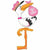 "E014 Stork It's a Girl Jumbo 60"" Mylar Balloon"