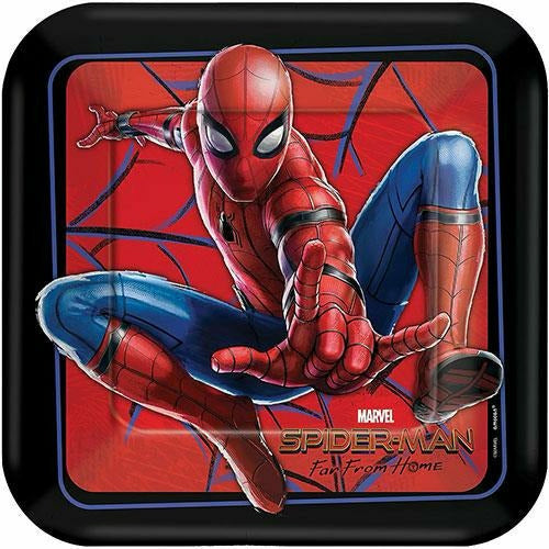 Spider-Man: Far From Home Lunch Plates 8ct