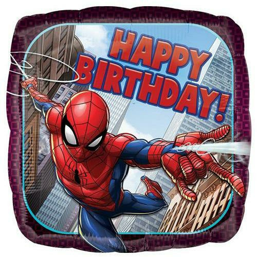 "189 Spider-Man Happy Birthday 18"" Mylar Balloon"