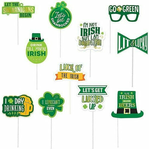 St. Patrick's Day Photo Booth Props 13pc