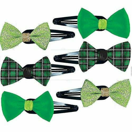 St. Patrick's Day Hair Clips 6ct