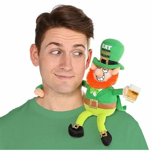 St. Patrick's Day Drinking Buddy Leprechaun Plush
