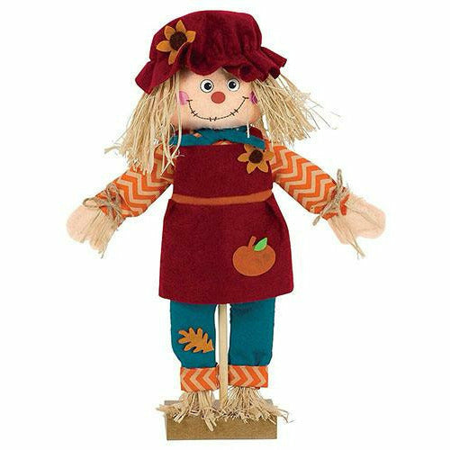 Standing Scarecrow Girl Decoration