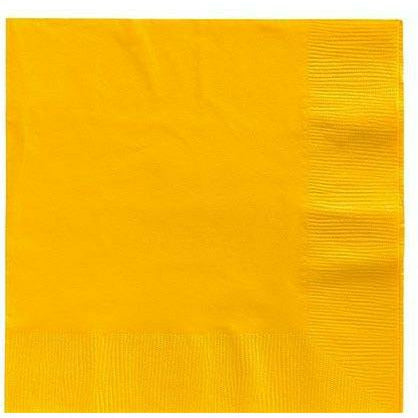 Sunshine Yellow Lunch Napkins 50ct