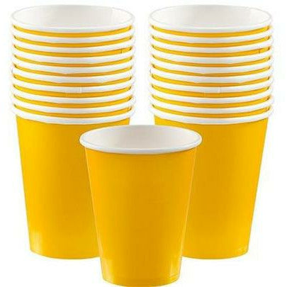Sunshine Yellow Paper Cups 20ct