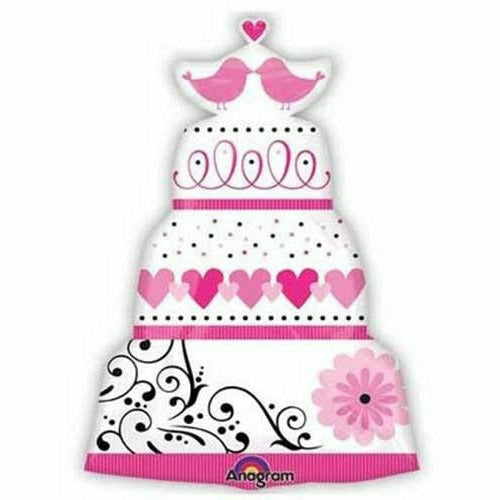"583 Sweet Wedding Cake Jumbo 31"" Mylar Balloon"
