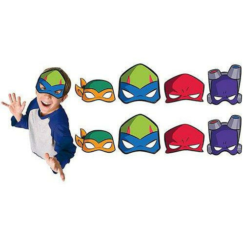 Rise of the Teenage Mutant Ninja Turtles Masks 8ct