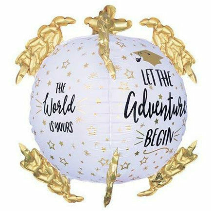 "The World is Yours Globe Jumbo 20"" Mylar Balloon"