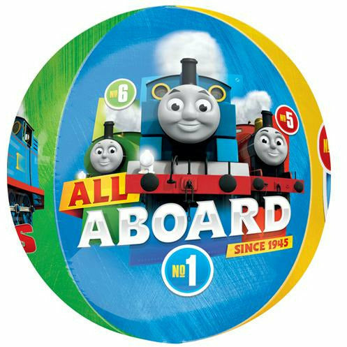 "097 Thomas & Friends All Aboard Orbz 16"" Mylar Balloon"