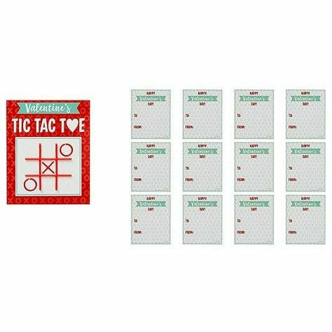 Tic-Tac-Toe Valentine Exchange Cards with Favors 12ct