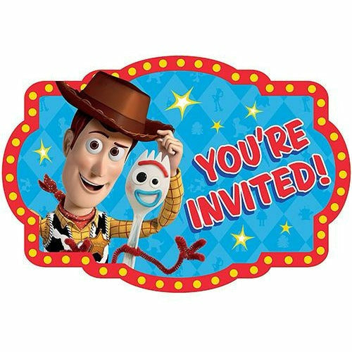 Toy Story 4 Invitations 8ct