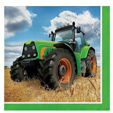 Tractor Beverage Napkins 16ct