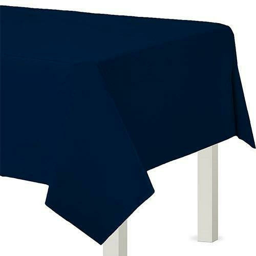 True Navy Blue Plastic Table Cover