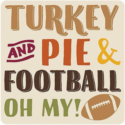 Turkey, Pie & Football Coasters 18ct