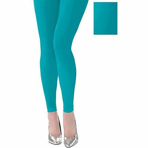 Adult Turquoise Footless Tights