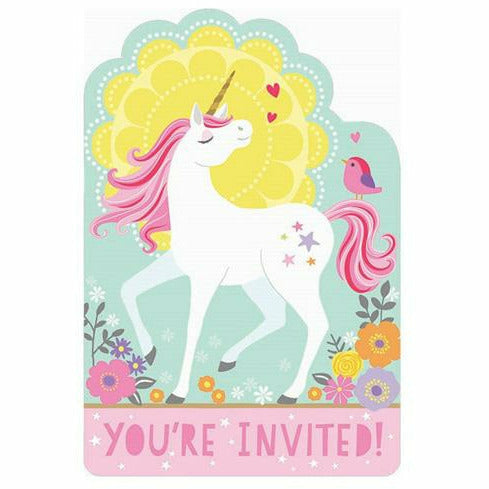 Magical Unicorn Invitations 8ct