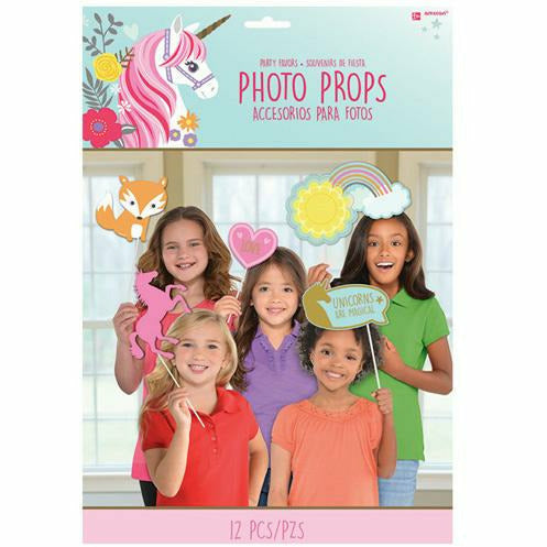 Magical Unicorn Photo Booth Props 12ct