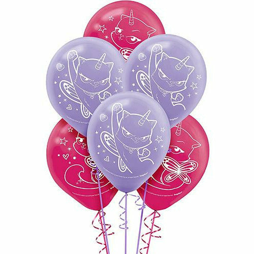Rainbow Butterfly Unicorn Kitty Balloons 6ct