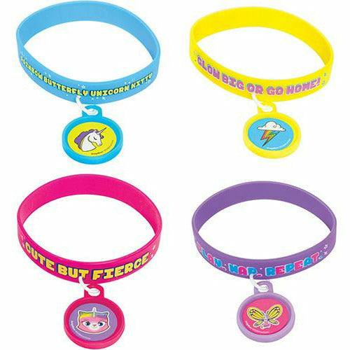 Rainbow Butterfly Unicorn Kitty Bracelets 4ct