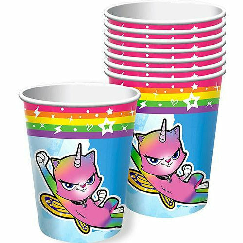 Rainbow Butterfly Unicorn Kitty Cups 8ct