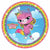 Rainbow Butterfly Unicorn Kitty Dessert Plates 8ct