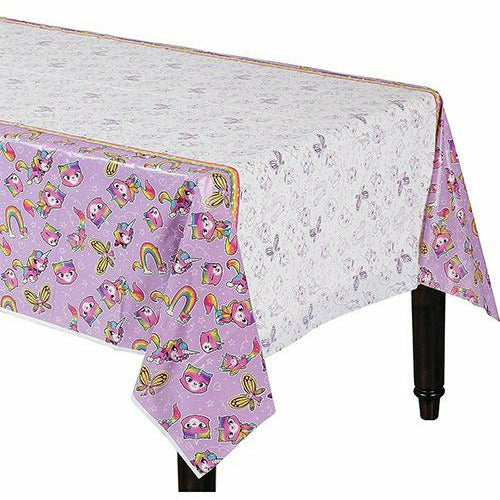 Rainbow Butterfly Unicorn Kitty Table Cover