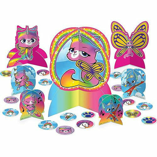 Rainbow Butterfly Unicorn Kitty Table Decorating Kit 31pc