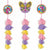Rainbow Butterfly Unicorn Kitty Tassel Decorations 3ct