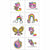 Rainbow Butterfly Unicorn Kitty Tattoos 1 Sheet