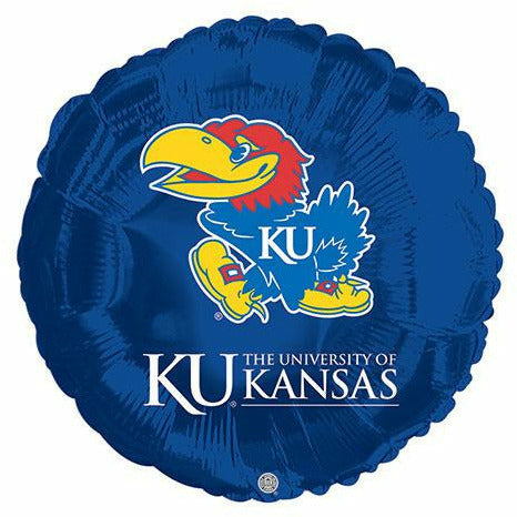 "University of Kansas Jayhawks 17"" Mylar Balloon"