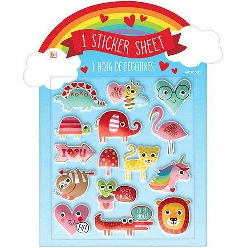 Valentine's Character Puffy Stickers 1 Sheet