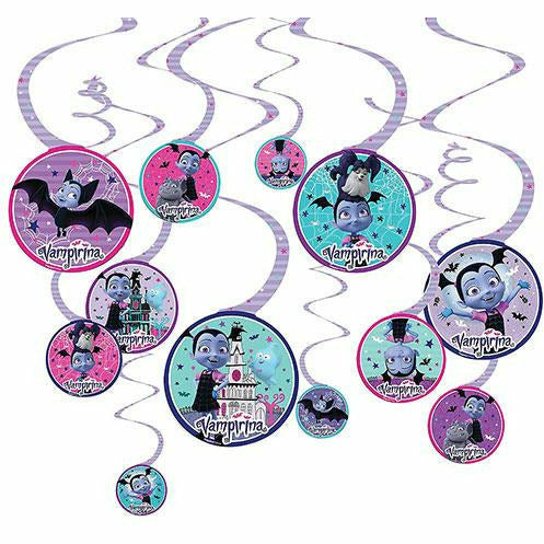 Vampirina Swirl Decorations 12ct