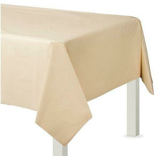 Vanilla Cream Plastic Table Cover