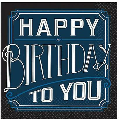 Happy Birthday Classic Lunch Napkins 16ct