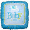 "552 Blue Welcome Baby Boy 17"" Mylar Balloon"
